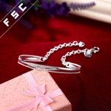 Silber überzog Kubikzirconia-Einlegearbeit-Armband-Armband für Frauen