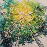 Pintura al óleo baja de aluminio de la reproducción para los árboles (ZH3720A)