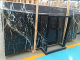 Losa negra material natural del mármol conveniente de la decoración interior