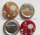 Botón bordados Pin como para la promoción, logo bordado