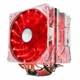 Refroidisseur de la CPU 4 Heatpipes TDP 220W double LED PWM 4 broches du ventilateur de 120mm
