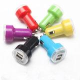 Caramelo color universal doble adaptador cargador de coche para todos los tipos de teléfono celular