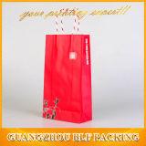 Bolsa de papel de lujo reciclada en rojo