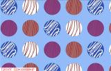 Tablecloth impresso PVC redondo branco do projeto do Tablecloth com revestimento protetor não tecido