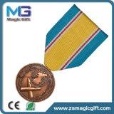 Médaille promotionnelle de tête en métal 3D de ventes chaudes