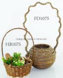 Pote de flores de vime natural para berçário