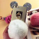 iPhone 7のためのダイヤモンドのMickeyの耳TPUの携帯電話のアクセサリの箱
