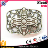 3D Metal Reised Dubai Forme de construction Antique Bronze Metal Belt Buckle