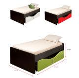 木のワードローブ夜立場のベッド部屋の家具セット(HX-DR029)