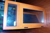 Het Houten Openslaand raam van de Stijl van Amerika met het Glas van het Effect van de Orkaan