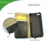 هاتف حالة رفاهية جلد محفظة [كرد هولدر] نقل حامل قفص حالة تغطية