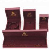 熱い販売の高品質PVCプラスチックビロードの宝石箱(J51-E1)