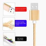 Кабель заряжателя данным по USB in-1 нейлона СИД 3 для Android iPhone