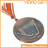 Medalla de bronce hechos Deportes plateados antigüedad availablelanyard (YB-MD-58)