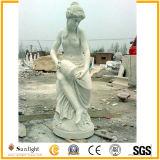 기복 판매를 위한 자연적인 대리석 정원 조각품