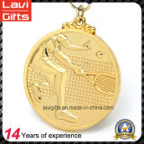 Медаль металла плакировкой золота верхнего качества изготовленный на заказ