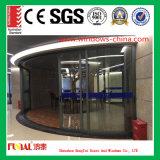 Porte en verre de glissement en aluminium de balcon de porte en verre de glissement