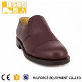 Rotbraune echtes Ledermens-Militärpolizei-Büro-Schuhe