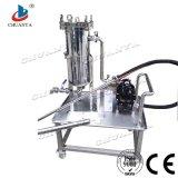 Industrielle rostfreie Qualitäts-beweglicher Stahlbeutelfilter mit Wasser-Pumpe
