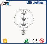 Bulbo decorativo de la lámpara ligera de la dimensión de una variable LED del balompié para la venta