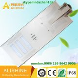 Luz de rua esperta solar Integrated toda do diodo emissor de luz da bateria da vida Po4 em uma lâmpada solar do diodo emissor de luz da rua
