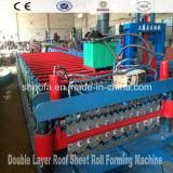 Rodillo de la capa doble del panel de la azotea que forma la máquina