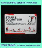 Cartão de seguro de cartão de PVC com assinatura para clínica