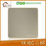 La CE aprobó la placa de interruptores de pared en blanco