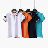 Hersteller passen Spandex-Frauen-Polo-T-Shirt der 95% Baumwolle5% an