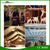150LED Arbre de Noël coloré jardin extérieur décoratif lampe Strip Light LED étanche Chaîne Chaîne en cuivre de lumière solaire