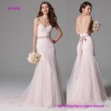 Robe de mariage rose de luxe de sirène