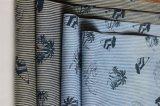 Striped джинсовая ткань с печатью цвета для юбки и тенниски