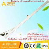 Iluminación solar del camino del gobierno para la lámpara de 50 W LED con la batería del Po 4 de la vida