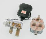BSIgroßbritannien 3 Pin-Stecker mit dem Verbinder der Abbildung 7 (C7) Wechselstrom-Netzkabel