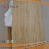 De Blonde Hoogste Pruik van uitstekende kwaliteit van de Zijde van het Menselijke Haar