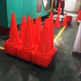 Cone de trânsito de PVC de 75 cm e 30 polegadas com fita reflexiva