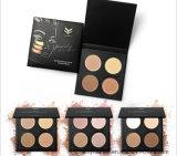 4 Mettez en surbrillance le contour de la palette de couleur nacrée couleur mat Lustre maquillage Poudre Pressée Foundation