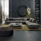 Sofá cinzento do sofá da tela (F629-12)
