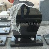 Черная лилия гранита высекая надгробную плиту