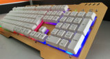 USB клавиатуры компьютера Plaste цветастый СИД металла переменчивый