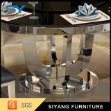 円卓会議を食事するホテルの家具ガラス