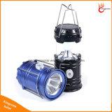 Lanterna di campeggio solare della torcia elettrica pieghevole ricaricabile portatile del LED per illuminazione esterna della tenda Emergency