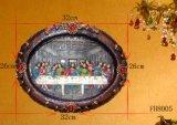 De ovale Godsdienstige Plaque van de Hars voor de Decoratie van Kerstmis