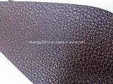 Cuoio di Microfiber del reticolo di Lychee di colore del Brown per il sofà