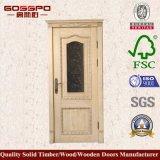 Porte en bois en verre classique de chambre pour une personne de Tempred (GSP3-053)