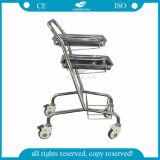 Carretilla de múltiples funciones médica aprobada del lavadero del hospital del Ce de la ISO AG-Ss034