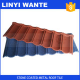 Telhas coloridas revestidas do metal da telha de telhado do metal da pedra de pouco peso da forma do material de construção