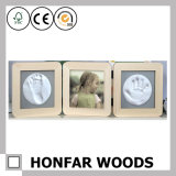 Collage 3 Divided Opening Decorative Wooden Baby Photo Frame