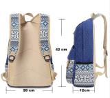 Sacos de escola da menina para a trouxa ocasional bonito da escola do saco de Mochila Feminina da trouxa das mulheres da lona da impressão de PONTO dos adolescentes