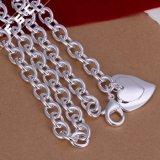 Großhandelsqualitäts-Inner-Form-Silber überzogene hängende Unisexhalskette